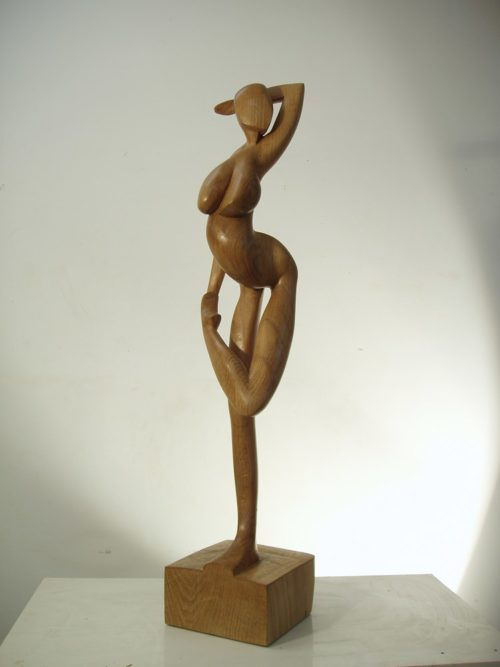 Femme se détournant . H; 0,75m, Chêne, 2008