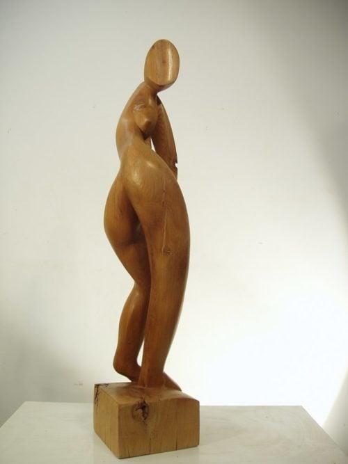Femme se retournant 2. H; 0,75m, Chêne, 2008