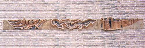 Les Tours d'Amiens. La Citadelle. La Porte de la Hôtoie. H 0m 40, L 5m 60.