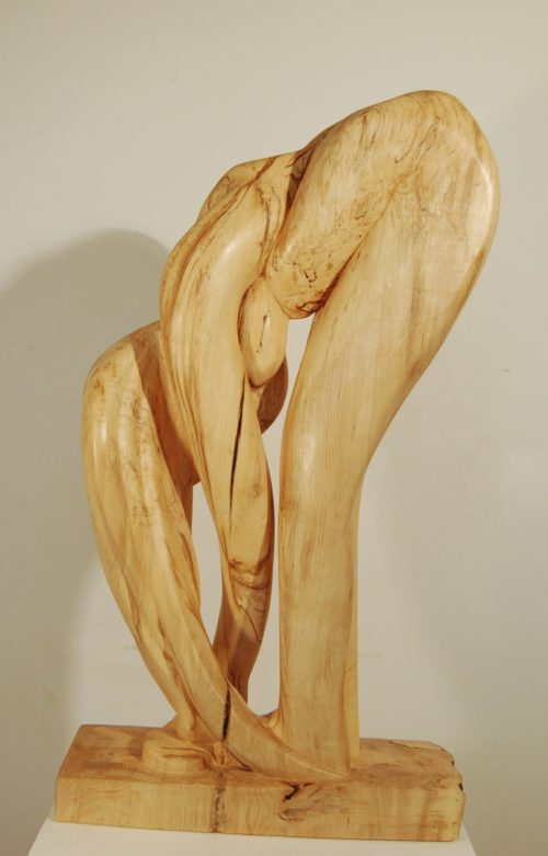 Femme courbée. H; 0,75m, , Bouleau 2010