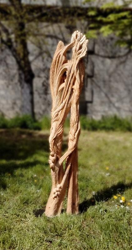 Arbre-Branches. Grès. H, 1m 80