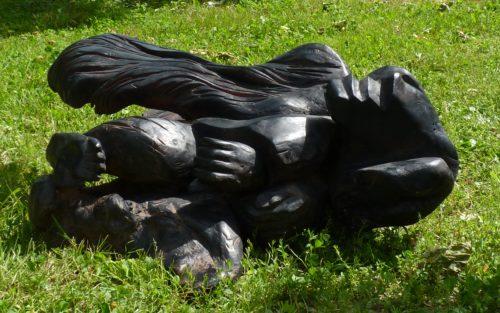 Le sphinx déchu. Bouleau, L, 1m 20.